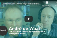 Can you learn to be a high performance managerial leader